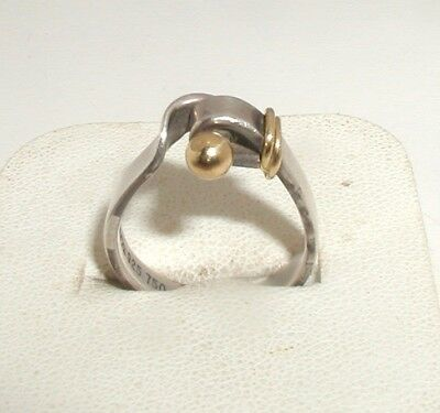 """""""Tiffany & Co Sterling Silver & 18ct Gold Modernist Ring"""""""