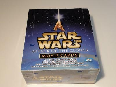 Topps STAR WARS Attack of the Clones Movie Cards 24 Packs in Box Sealed! New!