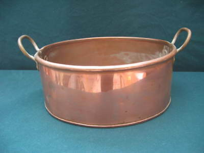 Antique Oval Copper Pan