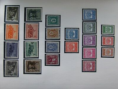 (19A2) 6 Pages Very Good Um.mint & Used Sets Bulgaria Parcel Post,officials Etc.