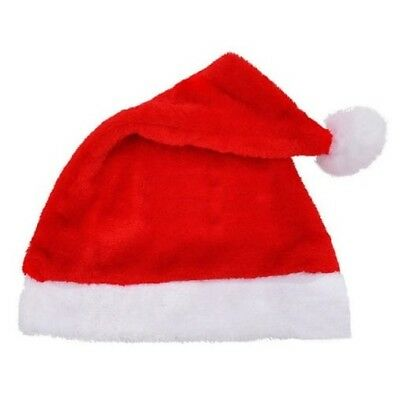 Adult Novelty Santa Claus Hat Christmas Fancy Dress Party Office Head Decoration