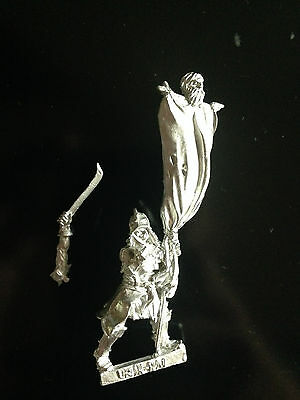 Warhammer Lord of The Rings LOTR - Mauhur Command Standard Bearer Rare Metal OOP