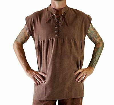 'BAGGY RENSHIRT'  Medieval - STONE BROWN