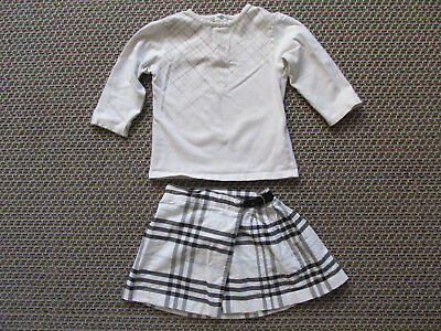 Burberry t-shirt  & skirt 12mths