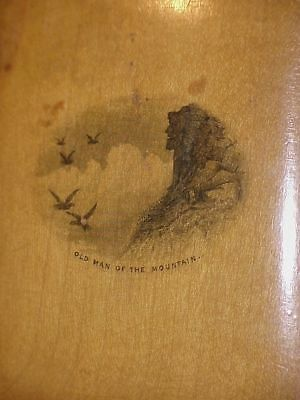 C1900 OLD MAN OF THE MOUNTAINS NH Mauchline Ware Birthday Book
