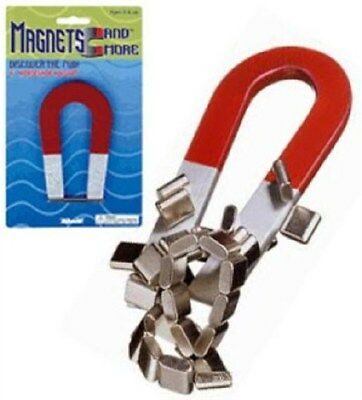 Magnetic Horseshoe Red Magnet 4 Inch Metal Science Toy