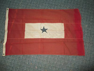 Vintage Bull Dog US Military Son in Service Cloth Flag 2ft x 3ft
