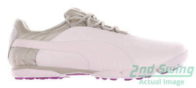 New Womens Golf Shoe Puma SunnyLite V2 Spikeless 9 White/Gray/Purple MSRP $80