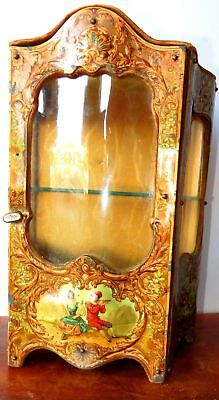 ex, rare fabulous Victorian French miniature show case furniture for   doll