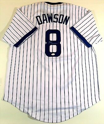 Andre Dawson Signed/autographed Cubs Custom Pinstripe Jersey Jsa W Authenticated