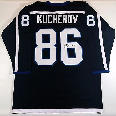 Nikita Kucherov Signed Lighting Custom Black Jersey Jsa W Authenticated