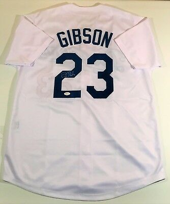Kirk Gibson Signed Dodgers Custom White Jersey Jsa Witnessed
