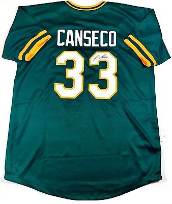 Jose Canseco Signed Oakland A's  Custom Green Jersey Jsa W Authenticated