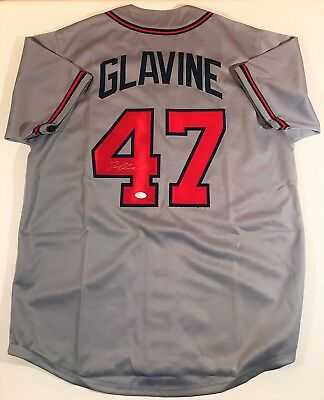 Tom Glavine Signed Braves Custom Grey Jersey Jsa W Authenticated