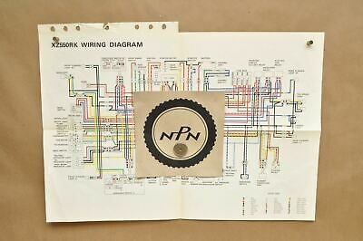 vtg 1983 yamaha visioin xz550 rk factory color schematic wire wiring diagram