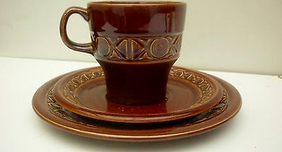"""Beswick Retro Style """"Zorba"""" Cup Saucer and Side plate Trio"""