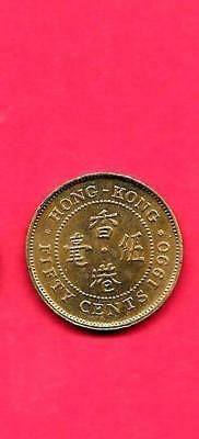 Hongkong Km62 1990 Xf-Super Fine-Nice Old 50 Cents Circulated Coin