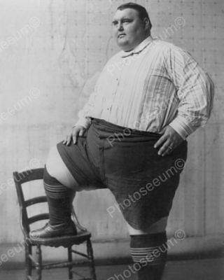 "Big Joe Poses ""Biggest Man in the World"" Professional Photo Lab Reprint"