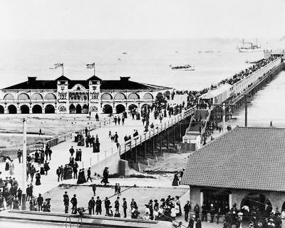 Birds Eye View Of Pier Long Beach C.A. Professional Photo Lab Reprint