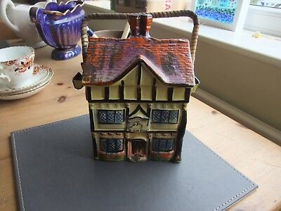 A Cottage Ware Hand Painted Biscuit Barrel Ye Olde Inne