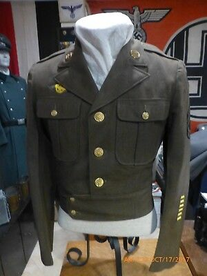 Original W2  US Army Infantry Tech Sgt. Ike  Jacket conversion  mint condition