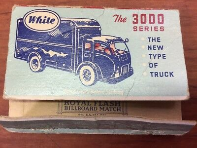 Vintage White 3000 Series Advertising Matchbook Eubank-White Truck Motor Co.