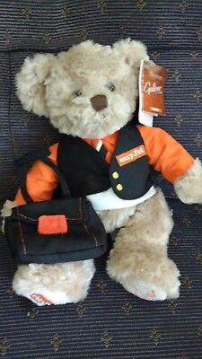 Russ Easyjet Gulliver Teddy Bear with Passport and Tags VGC