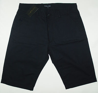 Raging Bull Mens Canvas Shorts In Navy Size 34 Nwt