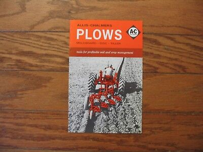 1960s ALLIS-CHALMERS MOLDBOARD..DISC..and TILLER PLOWS BROCHURE....12pg EXC.+