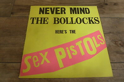 Sex Pistols - Never Mind The Bollocks 1977 UK LP VIRGIN A8/B7 EX+ PUNK/KBD