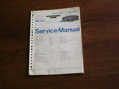 SERVICE MANUAL- PHILIPS KT2 CHASSIS - PORTABLE COLOUR c.1977
