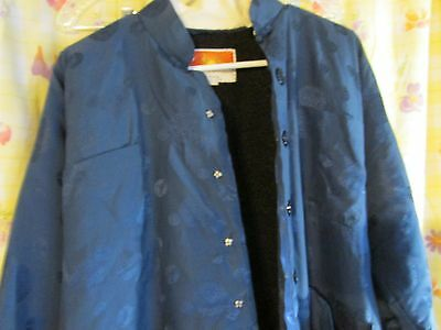 Oriental Made Ladies L LARGE Dress Jacket Blue Warm Lining Coat Nice & thick
