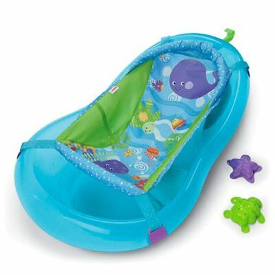 Fisher Price Ocean Wonders Aquarium Baby Bath Tub Center w/ Sling | P8262