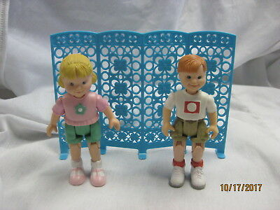 Fisher Price Loving Family doll lot Toddlers boy and girl son daughter dollhouse