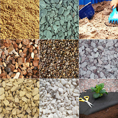Decorative Aggregate Gravel Slate Chippings Fabric Path Bedding Sand Garden