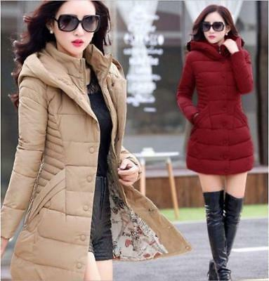 2017 Women's winter Slim hooded Long padded jacket Cotton jacket Coat Outwears #