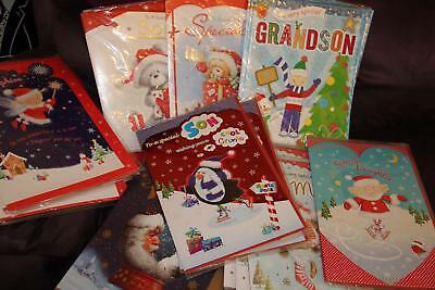 Job Lot X 76 Extra Large Assorted Christmas Cards Lots Different Designs