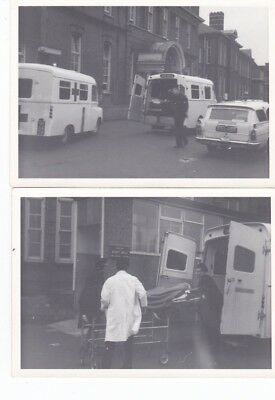 5 Photographs 1968 6Th Jan Helicopter Landing Stafford Dgh After Hixon Train Cra