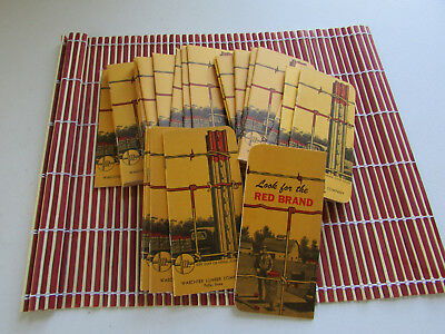 Vintage Red Brand Fence Advertising Pocket Notebooks Lot of 31 Pella Iowa NOS