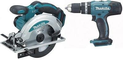 Makita 18v (Body Only) DSS611Z Lithium Ion Circular Saw + DHP453Z Combi Drill