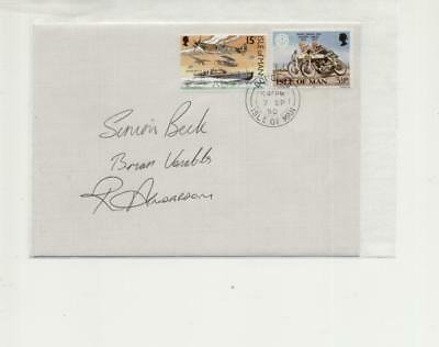 Isle of Man 1990 Manx Grand Prix Senior Winners Signed Cover, Beck, Venables,And
