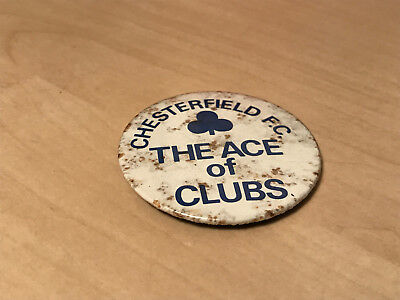Vintage Chesterfield F.C. The Ace of Clubs Pin Badge