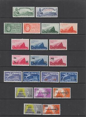 San Marino Express, 21 stamps collection, MH