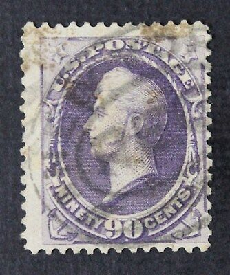 CKStamps: US Stamps Collection Scott#218 90c Perry Used Lightly Crease CV$250