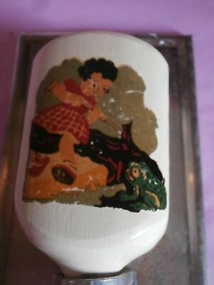 miniature Antique Wall Mount Mill Moulin a cafe  doll dinette RARE WOOD  TIN