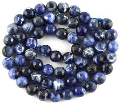 new natural blue Sodalite 6mm Round cut Gemstone Beads 15'' high quality