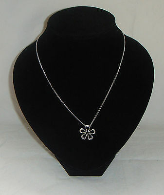 Sterling Silver Hallmarked 925 HOT DIAMONDS Plumeria Floral Paradise Necklace