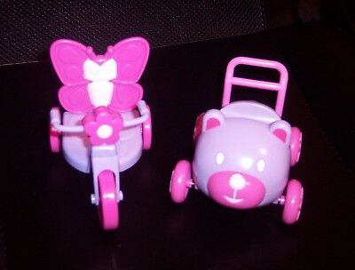 """NEW 2 Berenguer Doll Lots To Love Babies 5"""" Doll Accessories Trike Car NoBoxNWOT"""