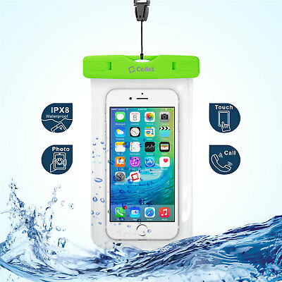 WaterProof Green Beach and Pool Case fits Samsung Galaxy Note 8
