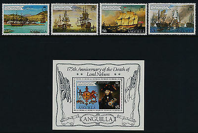 Anguilla 429-33 MNH Ships, Lord Nelson, Crest